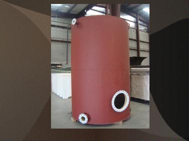 polyethylene lined steel tank