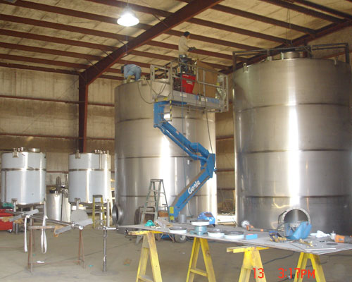 Steel Tanks - Stainless Steel Process Tanks, Chemical Tanks
